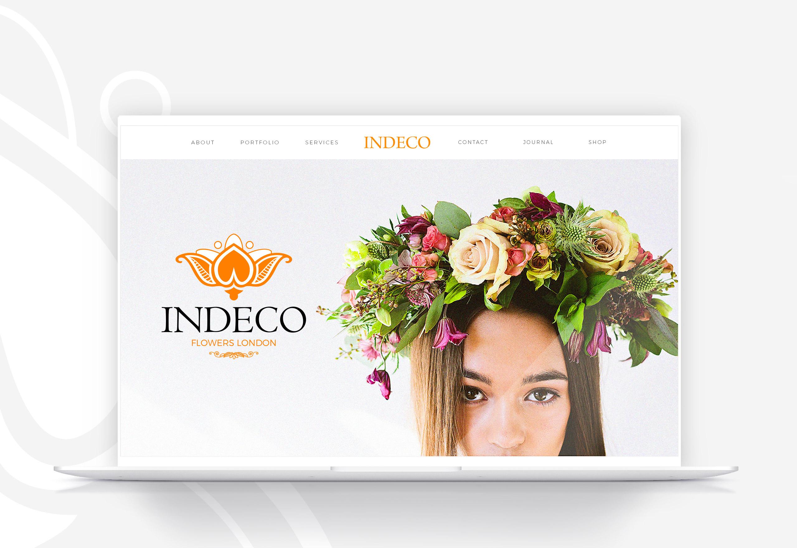 Indeco Flowers webdesign -logobou design 1
