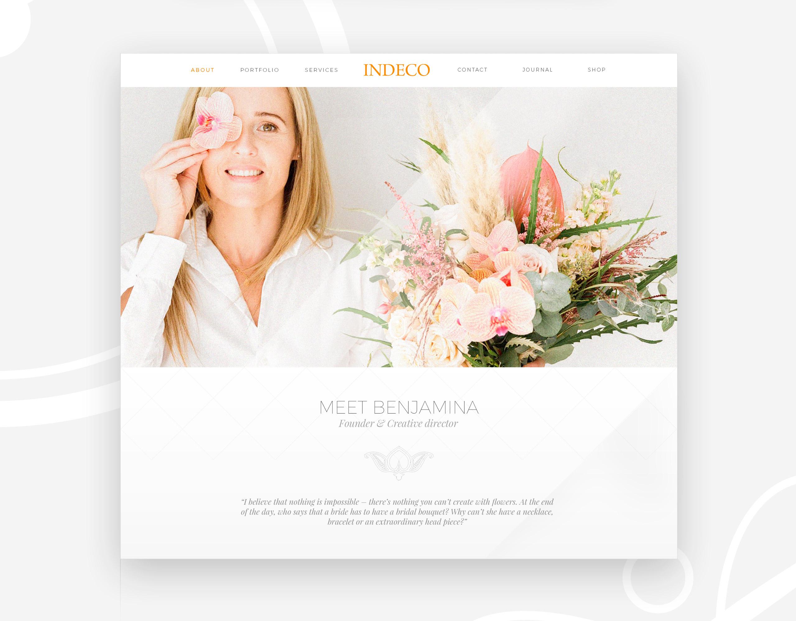 Indeco Flowers webdesign -logobou design 2