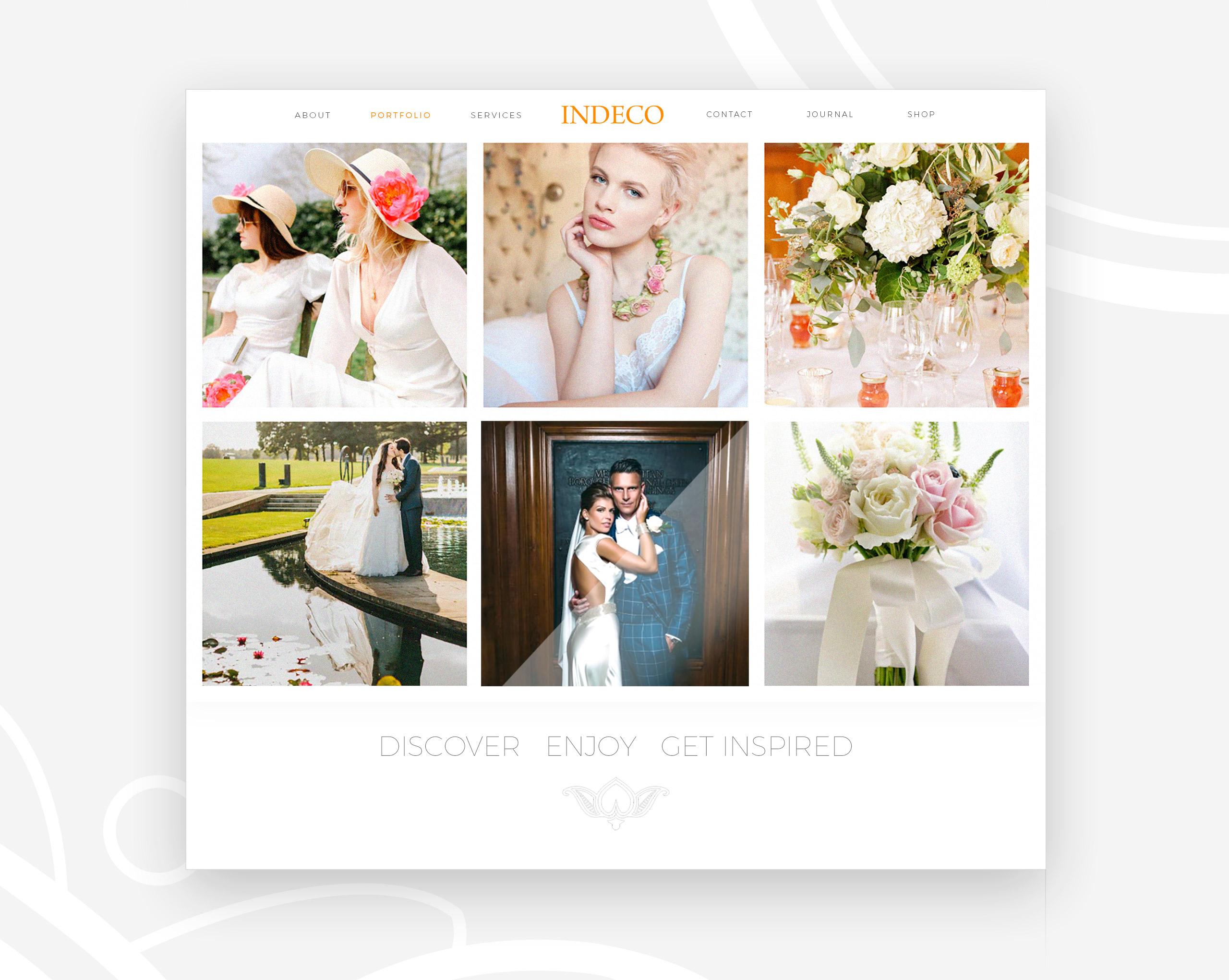 Indeco Flowers webdesign -logobou design 4