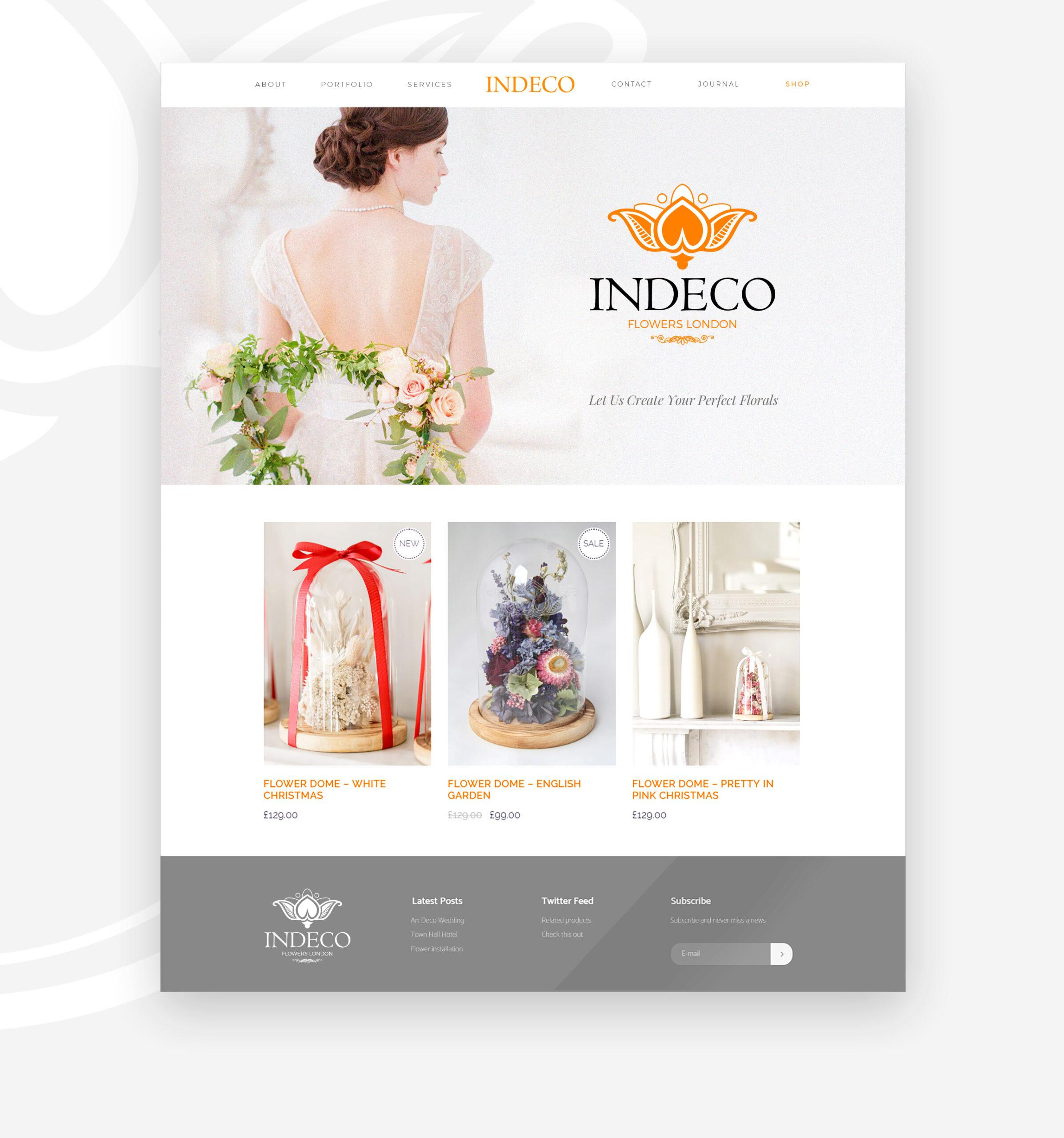 Indeco Flowers webdesign -logobou design 5