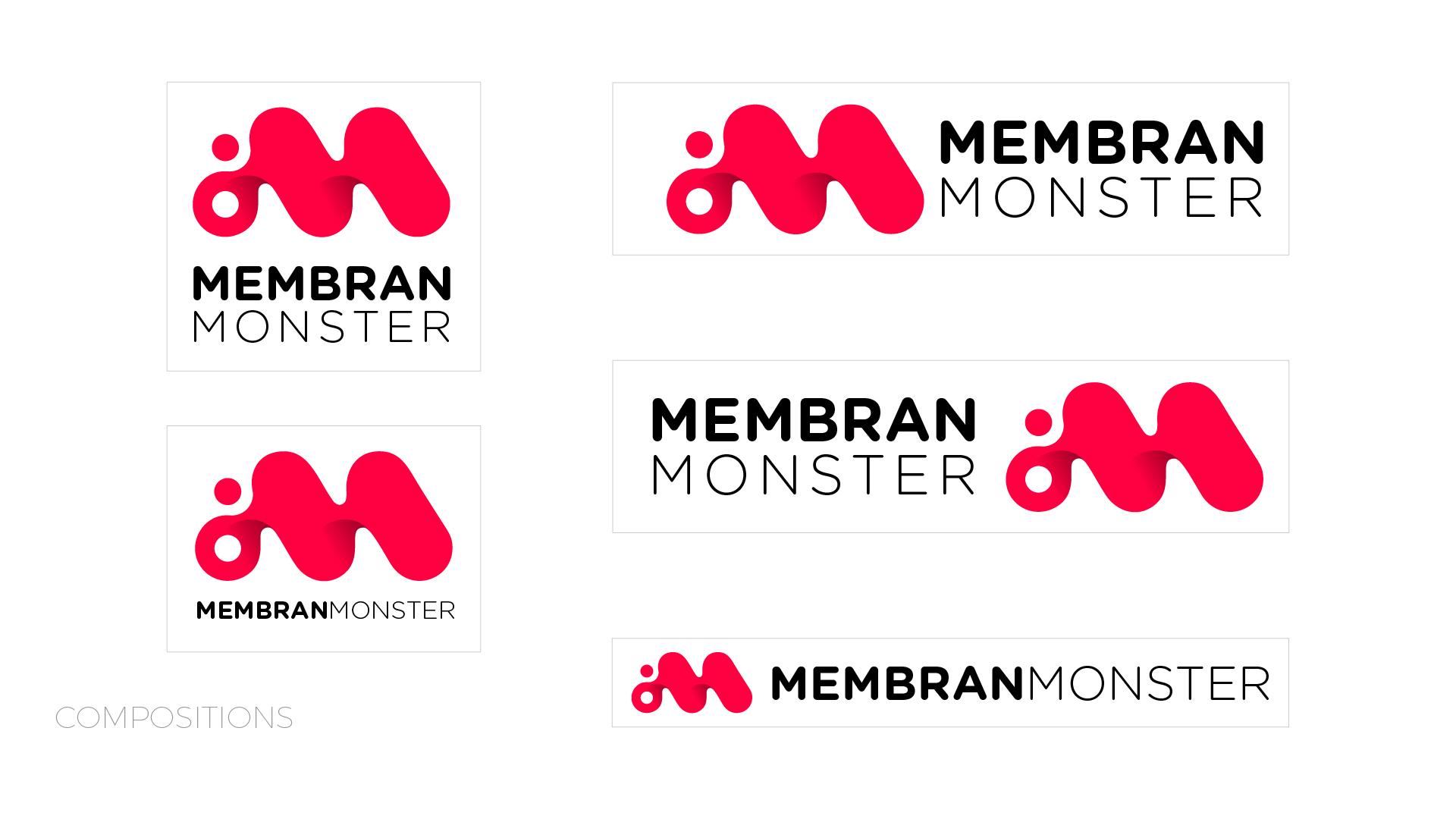 Membran Monsters / Visual Identity / Logobou 5