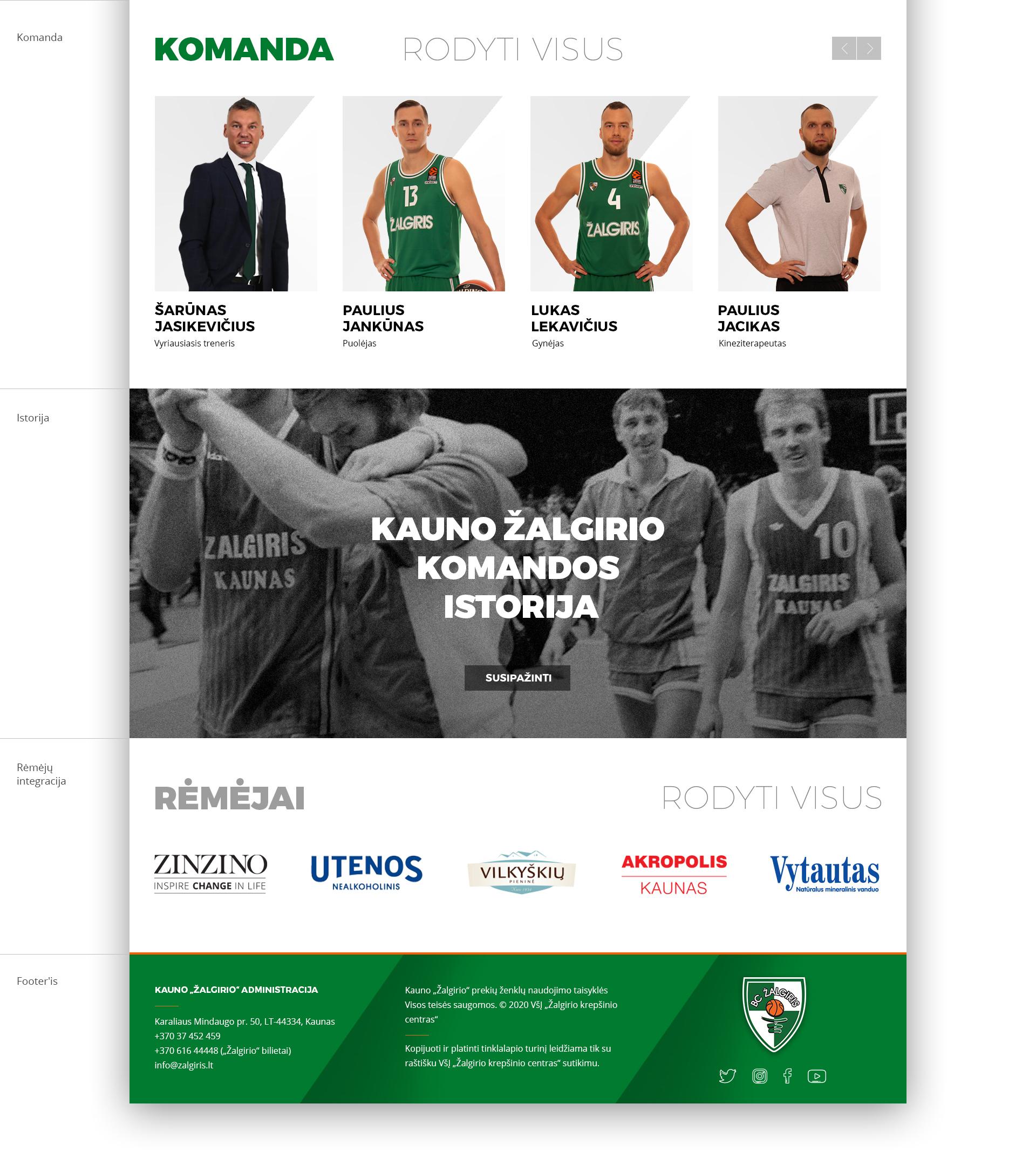 BC Žalgiris internetinio tinklapio konceptas 7 /Logobou Design 9