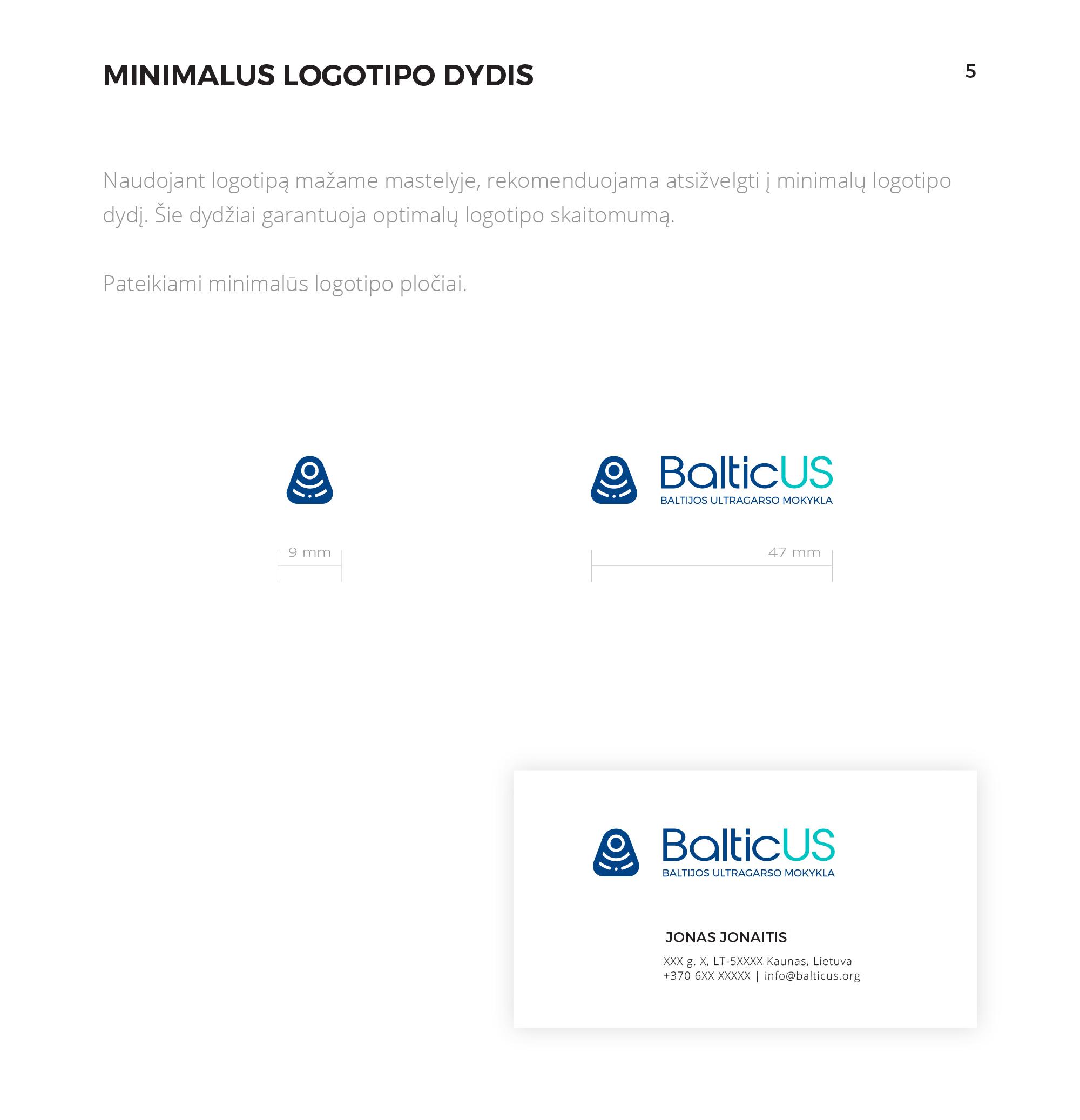 BalticUS stiliaus vadovas  6/ Logobou design
