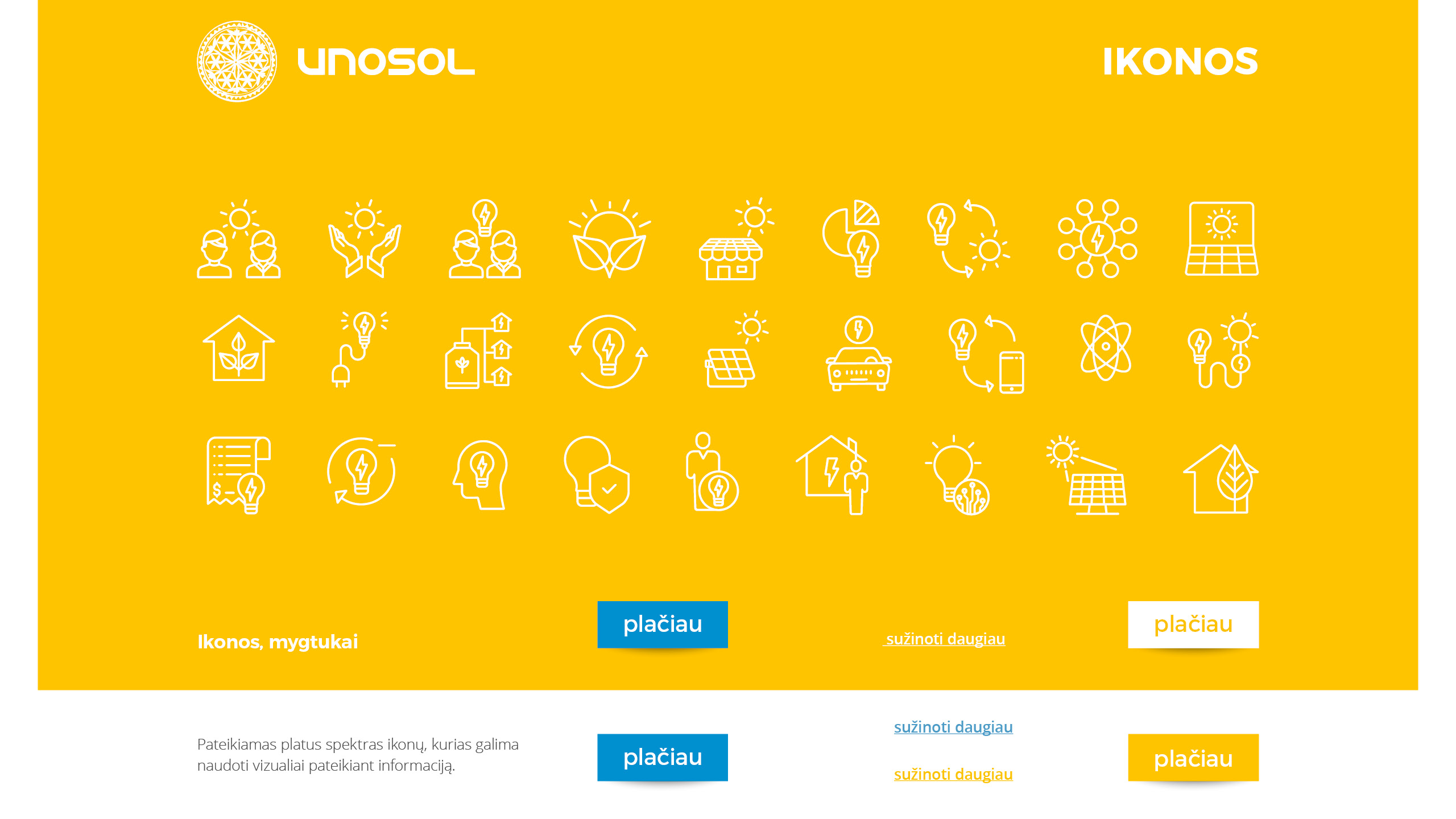 UNOSOL Vizualinio Identiteto vadovas 11 / Logobou design