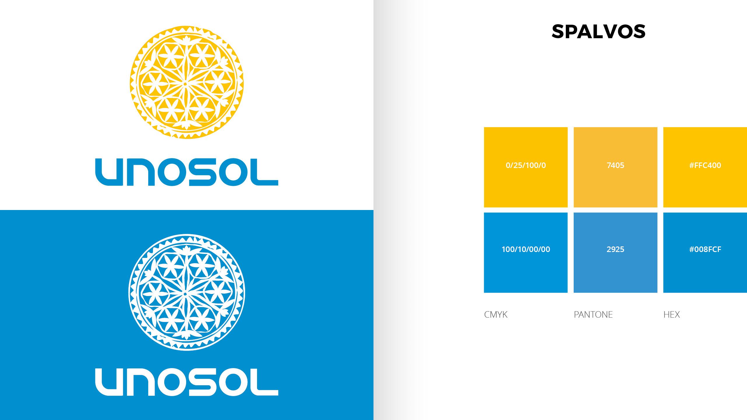 UNOSOL Vizualinio Identiteto vadovas 5 / Logobou design