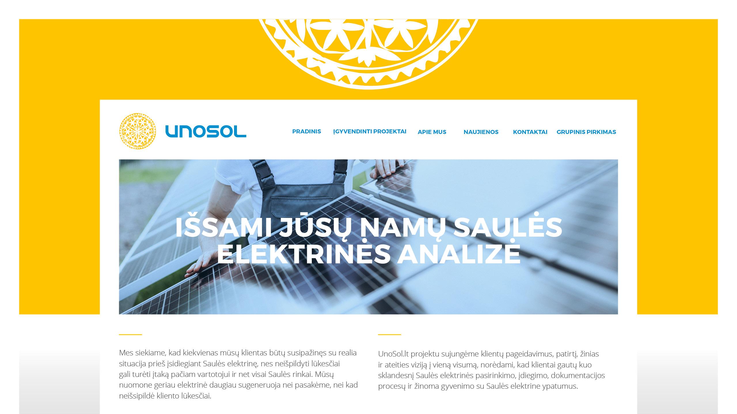 UNOSOL Vizualinio Identiteto vadovas 9 / Logobou design