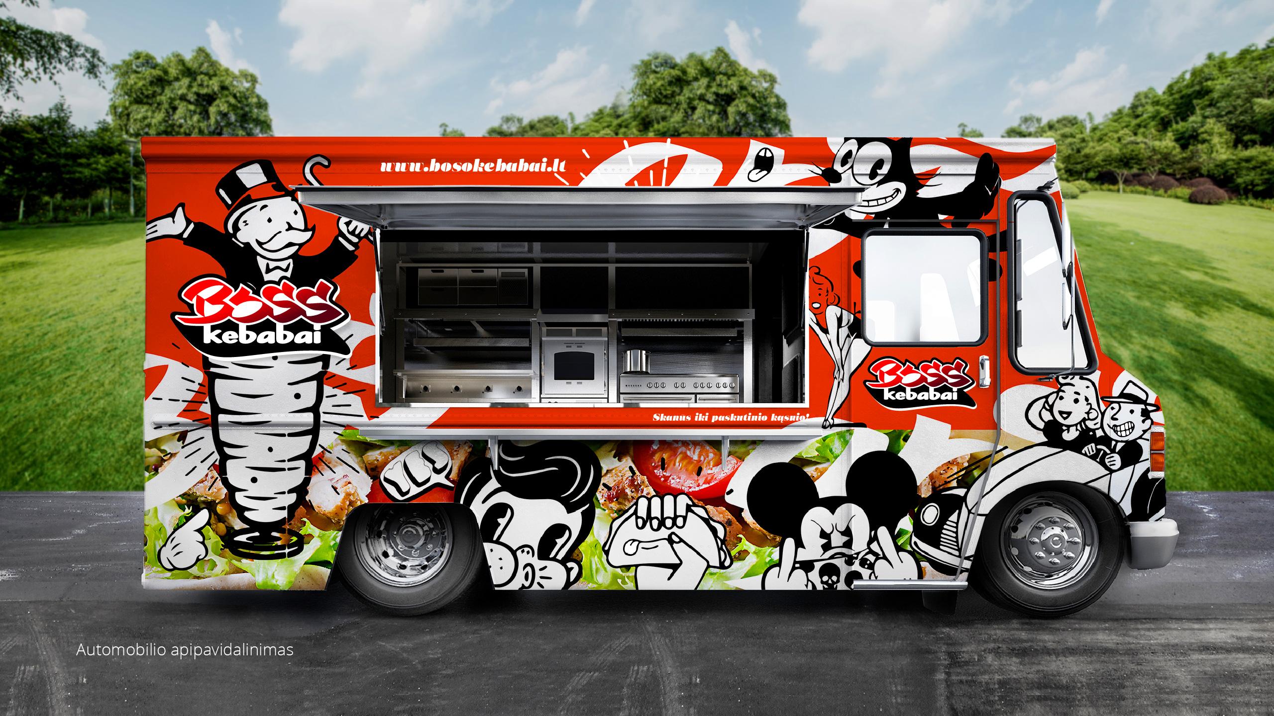 BOSS kebabai 8 branding - Logobou Desing